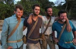 Jud Nichols, Dakota Mortensen, Rob Brothers, and Jim Murray before leaving The Island